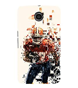 Player 3D Hard Polycarbonate Designer Back Case Cover for Motorola Nexus 6 :: Motorola Nexus X :: Motorola Moto X Pro :: Google Nexus 6