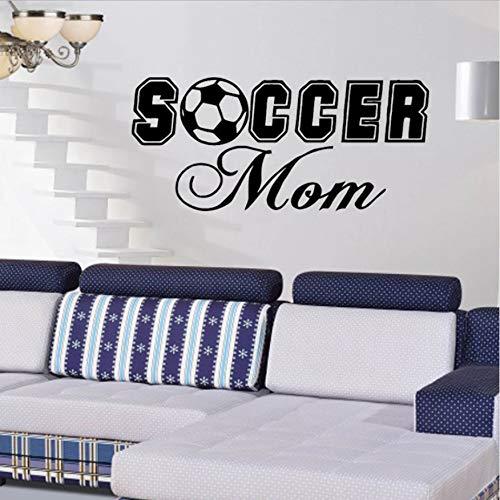 DongOJO Fußball Mom Vinyl Wandaufkleber an der Wand Indoor Home Decor Zubehör Moderne Wohnzimmer Tapete 29x73cm