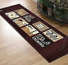 Satguru Home Decor Kitchen/Bedside Runner - 50 X 150 cm, Coffee