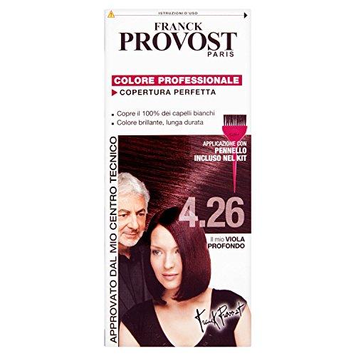 Franck Provost Colorazione Permanente Capelli, Tinta Copertura Ottima, Colore Professionale, 4.26 Viola Profondo