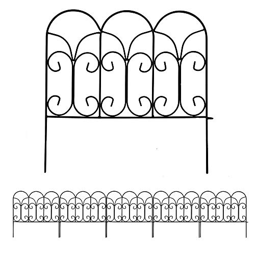 Amagabeli Garden Home 46cm X 46cm X 5 Stück Gartenzaun Metall Teichzaun Set mit Zaunelementen Gartenzaun Bei Dekorative Freigehege Teich Zaun Faltdraht Zäune Klein Metall