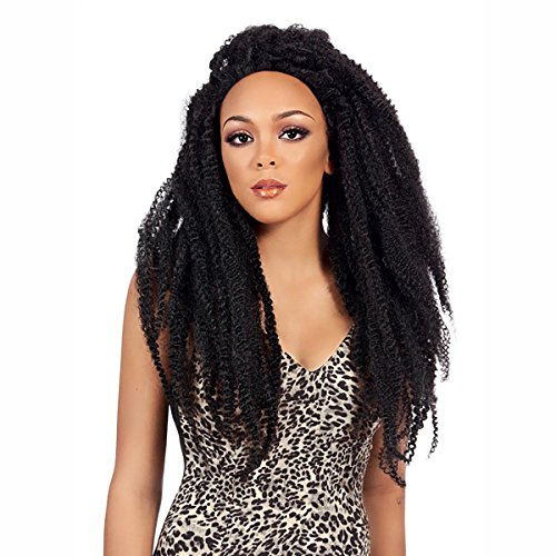 It's a wig elegante Perücke - Lace Front JAMAICAN LOCKS BRAIDED LACE WIG, Farbe:2 (Dunkelbraun)