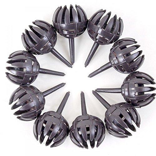 Dünger-Korb, rund mit Pin, dunkelbraun, 2,5 cm Ø 10er Pack 61009