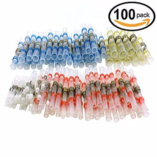 drillpro-100-pezzi-connettori-termoretraibili-saldanti-wire-terminals-solder-seal-wire-connector-sal