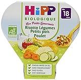 Hipp Biologique Les Petits Gourmets Risotto Légumes Petits Pois Poulet dès 18 mois - 6 assiettes de 260 g