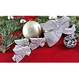 4 Stck. Beton, Steinguss Anhänger Weihnachtsengel weiß patiniert. als Geschenk verpackt!