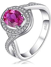 JewelryPalace 2.02ct Magnifique Bague Femme en Argent Sterling 925 en Rosé  d\u0027Alenxandrie de