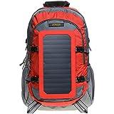 XTPower® SP507BL 6,5W sac à dos Solaire Rouge-Gris ; Sac solaire en nylon - Sac à dos de sport avec fonction chargeur photovoltaïque démontable - Panneau solaire intégré avec 1x USB 5V 1A