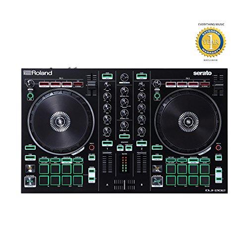 Roland DJ-202 2-Kanal-4-Deck Serato Intro DJ Controller