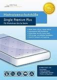 Matratzenschutzhülle Single Premium Plus Extrem Stark 60µ Extra Lang Geruchsneutral Reißfester Nässeschutz für 1m Breite Matratze