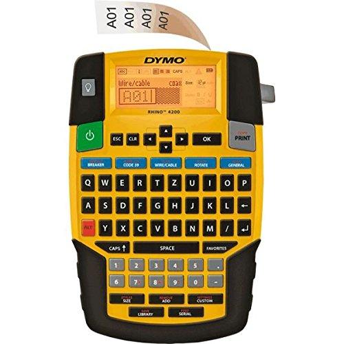 DYMO Industrie-Etikettendrucker Rhino 4200, QWERTZ-Tastatur, für 19mm Bänder (Dymo Rhino-etikettendrucker)
