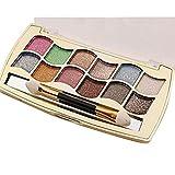 MMLC Ultra 12 Eyeshadows und Matt Hautfarben Flawless Schimmer Palette & Kosmetik Pinsel Make-up Set for women (A) (A)