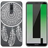 yayago Hülle für Huawei Mate 10 Lite Silikon Schutzhülle Hülle Case Backcover Tattoo Ornament Spring Design transparent Tasche