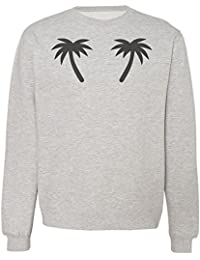 Minimalistic Design Of Two Black Palm Trees Sudadera Unisex