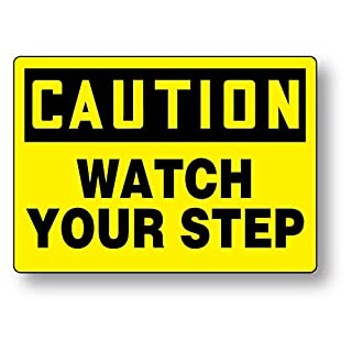 Accuform C203PB Caution: Watch Your Step Sign, 10