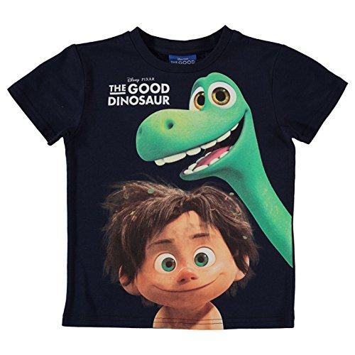 The Good Disney Pixar-Maglietta da bambino, motivo: dinosauro, colore: blu scuro con parte superiore a maglietta 7-8 anni
