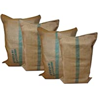 [Patrocinado]Sacos de Yute, 50 kgrs, 60 x 90 cm, para almacenaje, de jardinería, huerto,cultivo, frutas, verduras,... de Yute , Arpillera 60x90 cms., Pack de 4 sacos de yute natural