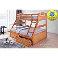 Sleepland Beds Maple or White Triple Bunk (Maple)