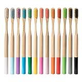 jieGREAT 13 soin gradable de brosse de dents de fibre molle en bambou qui respecte l'environnement de bambou