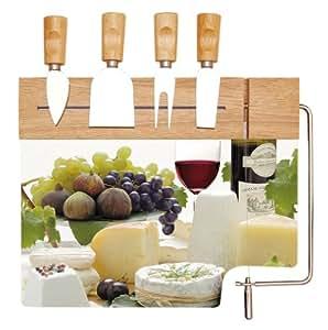 Service et plateau à fromage 'enjoy cheese' -enc513