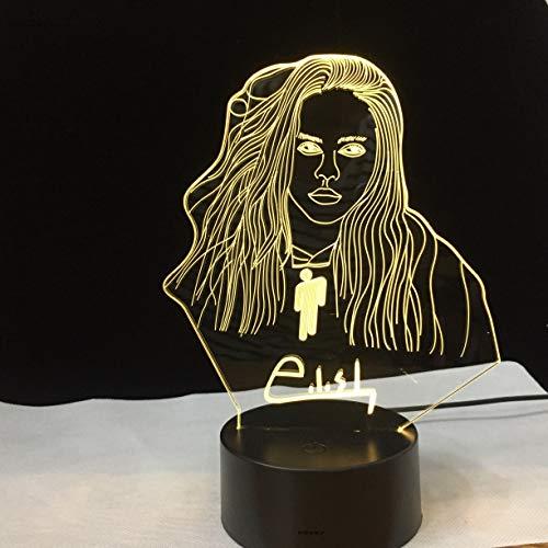 Berühmte Sterne Fernbedienung nachtlicht Lampe büroraum Dekoration tischlampe Fan Geschenk nachtlicht