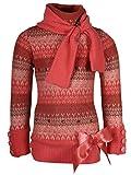 Cutecumber Girls Woolen Striped Orange F...