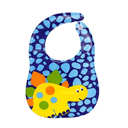 Koly Baberos del bebé - Baberos impermeables suaves translúcidos (Azul)