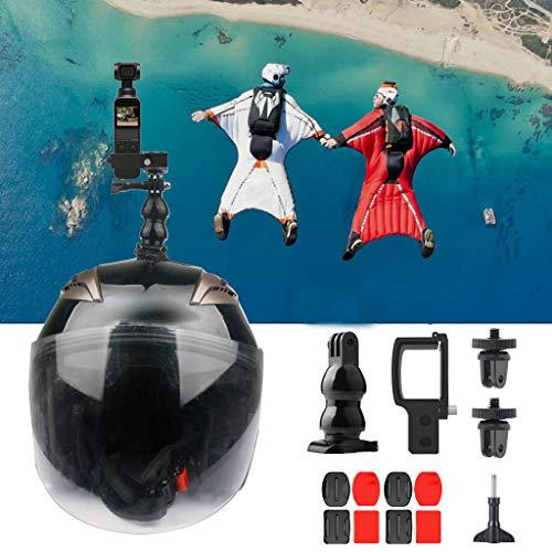 Fuibo Multifunktionaler Erweiterungsadapter für DJI Osmo Pocket Gimbal Fallschirmspringen / Bungee Jumping / Hang Glidi (Schwarz) -