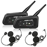 LEXIN 2X Pro R6 Auriculares Intercomunicador Moto Bluetooth, intercomunicador Casco Moto,...