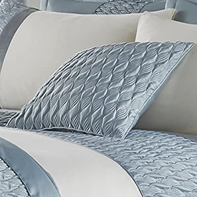 Catherine Lansfield Signature Quilted Luxury Satin Cushion Cover, Duck Egg, 45 x 45 Cm