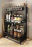 MSLYDYG Portaspezie in Acciaio Inox, scaffale di stoccaggio per Bottiglie Multi-Strato con piedistallo, per Cucina Bagno. Multi Storage Funzionale,3layer