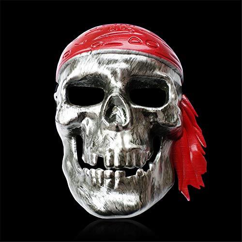 il Fools Day Maskerade Horror Gesicht Galvanik Piraten Maske Cosplay Requisiten ()