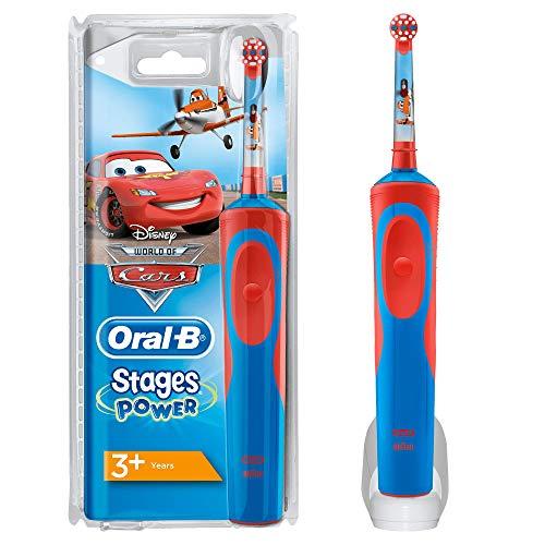 Oral-b stages power spazzolino elettrico ricaricabile per bambini con personaggi disney di cars e planes, con 1 manico e 1 testina