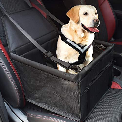 SZ-Climax Hunde Autositz für Kleine Mittlere Hunde, Pet Car Booster Sitz, Rückbank & Vordersitz Hundesitz, Wasserdicht Faltbare Autositzbezug mit Sicherheitsgurt, Langlebig & Einfach zu Installieren