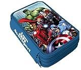 Marvel Avengers Hulk Thor Captain America Iron Man 3-FÄCHER 42 TEILE FEDERMAPPE FEDERTASCHE ETUI GEFÜLLT mit Sticker von kids4shop
