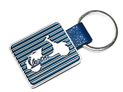 original Vespa Schlüsselanhänger aus Metall, gestreift 4 verschiedene Modelle, Preis pro Stück (VPKR 91, blau) -