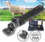 HYLH Elektrische Schafe Leistungsstarke Schermaschinen Schere Tier Wolle Schafschnitt Ziege Alpaka Pet Trimmer Farm Machine (13 Gerade Zähne)