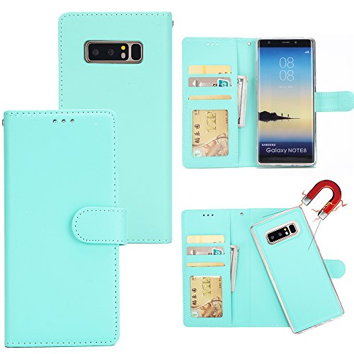 Antenna Samsung Galaxy Note 8 2017 Holster Case Flip, None Cover Suit Premium Vertical Leather Pouch Sleeve Carrying Case Carry Case with Card Slot Holster for Samsung Galaxy Note 8 2017 (Green)