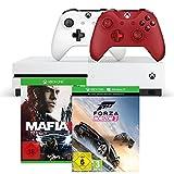 Xbox One S 500GB Konsole - Forza Horizon 3 + Mafia III + Xbox Wireless Controller (rot)