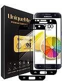 UniqueMe Compatible With Schutzfolie Galaxy S7 ,Galaxy S7 Panzerglas, [2 Stück] Full Cover Gehärtetem Glas Hartglas Displayschutzfolie mit Lebenslange Ersatzgarantie - Schwarz