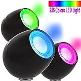OriGlam New Touching Schalter, Farbe Bar Design, 256 Farben-Licht-Lampe Atmosphäre Licht mit eingebautem Akku Verwendet als Schreibtischlampe Ambience Licht für Dekoration Weihnachts Yoga (schwarz)