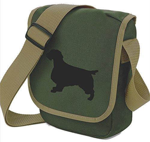 Bag Pixie - Borsa a tracolla unisex adulti Black Dog on Olive Bag