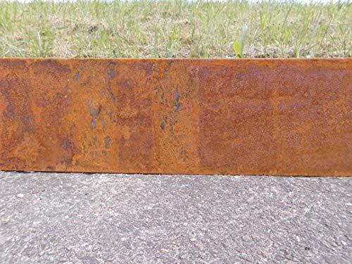 Rasenkante Corten Stahl Edelrost Mähkante Metall Beeteinfassung Edelrost rostig