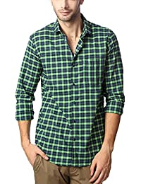 Peter England Green Shirt