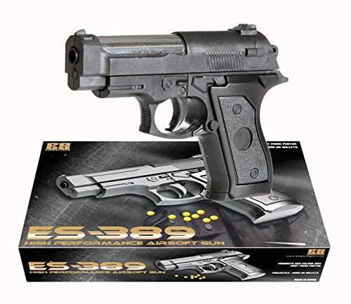 KOSxBO® Set Elite Softair Kinder Erbsenpistole mit Munition für unseren kleinen Polizisten / Airsofter / Soldaten / Verbrecher / SWAT / SEK / Gangster - ES-389
