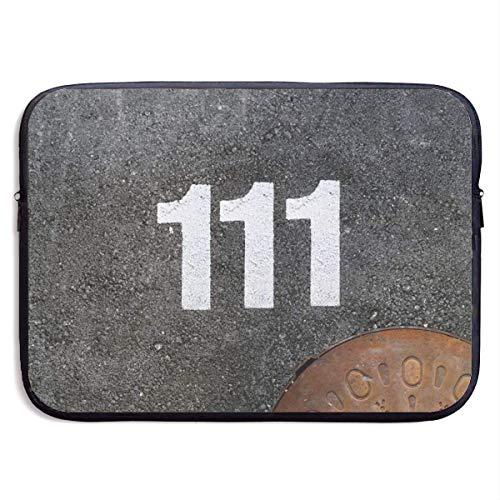 Benutzerdefinierte Laptop-Hülle 13/15 Zoll Chromebook Reißverschluss Aktentasche Nr. 111 Abwasser gut Bedrucken tragbare Umhängetasche, 15 Zoll