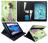 Sweet Tech Huawei MediaPad M5 10/M5 10 Pro Tablet 10.8 Zoll Mädchen mit Schmetterling Universal Wallet Schutzhülle Folio (10-11 Zoll