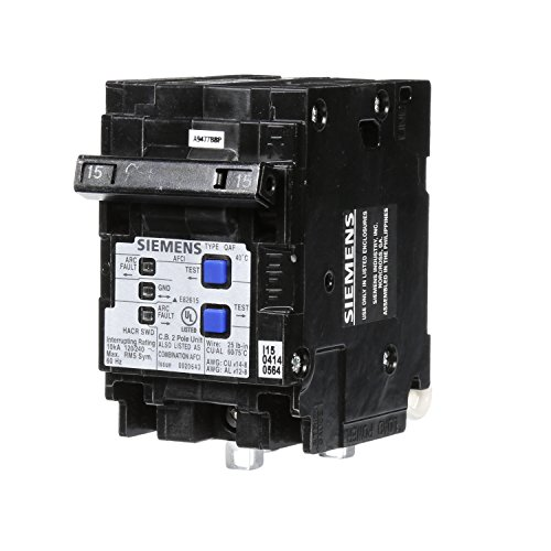 Siemens q215afcp 15-amp 2-polig 120-volt Kombination Typ Arc Fault Circuit 13479 (Siemens Arc Fault)