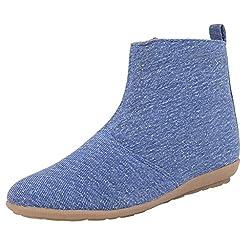 Exotique Womens Denim Casual Boots (EL0030BL-38)