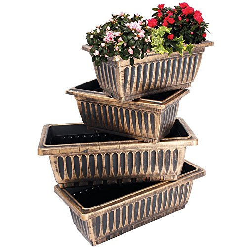 set-of-4-bronze-trough-garden-planters
